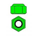 Hliníkové Nylon STOPmatky M4 - zelené - 10 ks