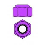 Hliníkové Nylon STOPmatky M4 - fialová - 10 ks