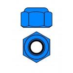Hliníkové Nylon STOPmatky M3 - modré - 10 ks.