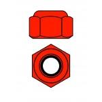 Hliníkové Nylon STOPmatky M4 - červené - 10 ks.