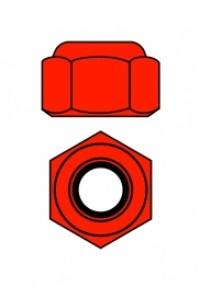 Hliníkové Nylon STOPmatky M3 - červené - 10 ks.
