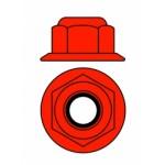 Hliníkové Nylon STOPmatky M3 s ploškou - červené - 10 ks.