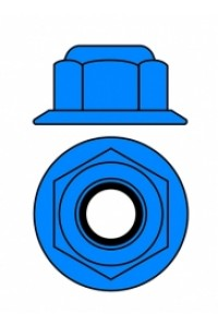 Hliníkové Nylon STOPmatky M4 s ploškou - modré - 10 ks.