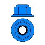 Hliníkové Nylon STOPmatky M3 s ploškou - modré - 10 ks
