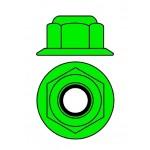 Hliníkové Nylon STOPmatky M4 s ploškou - zelené - 10 ks