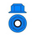 Hliníkové Nylon STOPmatky M4 s ploškou - modré - 10 ks