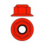 Hliníkové Nylon STOPmatky M4 s ploškou - červené - 10 ks.