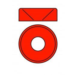Hliníková podložka pro M4 šroub s zápustnou hlavou, venkovní průměr=10mm, červená, 10 ks.