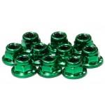 Matice samojistné s přírubou (10ks) - Zelené