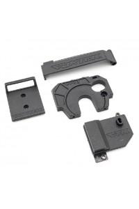 STX - držák přijímače/regulace jednotky + ochrana baterky + držák motoru