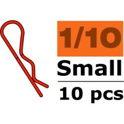 Sponka karosérie malá 45° červená (10)