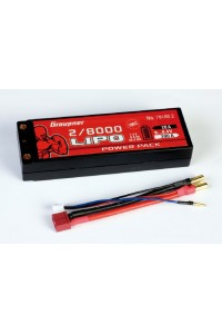 Power Pack Car Lipo 2/8000 7,4V 100C