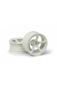 R5 disky Bílé (9mm Offset) 2ks