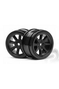 Paprskové disky 26mm černé 0mm OFFSET