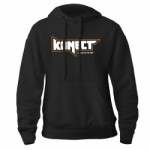 KONECT černá mikina s kapucí - vel. XL