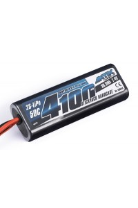 ANTIX by LRP 4100mAh - 7.4V - 50C LiPo Car Stickpack Hardcase - Tamiya konektor