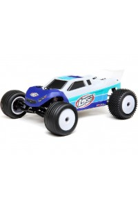 RC auto Losi Mini-T 2.0 Brushless 1:18 RTR - modro-bílá