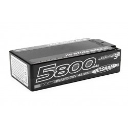 HV Stock Spec Shorty GRAPHENE-3 5800mAh Hardcase Akku - 7.6V LiPo - 130C/65C
