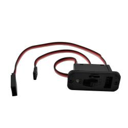 Vypínač s LED kontrolkou a nabíjecí zdířkou