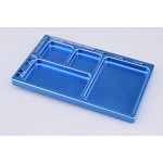 Hliníková odkládací miska (tmavě modrá)