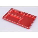 Hliníková odkládací miska (červená)