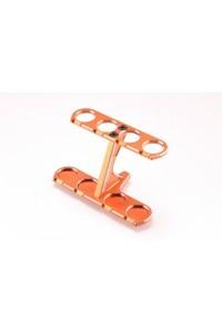Ultra hliníkový stojánek pro olejové tlumiče TC, oranžový