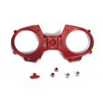 MZ-12 přední čelo, vypínač a hliníkové knyply - (červená)