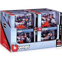 Kovový model auta Bburago 1:18 Motorky Red Bull KTM sada 12ks