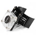 ALU chladič motoru 2WD 540/550 (úzký) - Černý