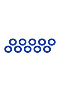 3x6x2mm alu podložky modré (10 ks.)