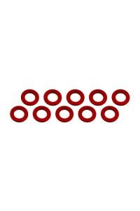 3x6x0,5mm alu podložky červené (10 ks.)