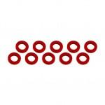 3x6x1mm alu podložky červené (10 ks.)