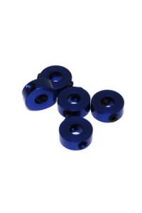 4 mm.alu stavěcí kroužky modré (5 ks.)