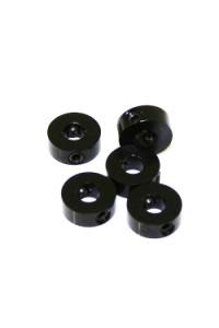 4 mm.alu stavěcí kroužky černé (5 ks.)