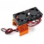 Chladič motoru 540/550 s ventilátory - oranžový