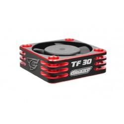 Ultra High Speed hliníkový větráček 30mm, černo/červený - 6-8,4V - konektor BEC černý