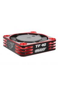 Ultra High Speed hliníkový větráček 40mm, černo/červený - 6-8,4V - konektor BEC černý