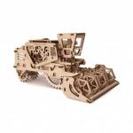 Dřevěná stavebnice 3D mechanického Puzzle - Kombajn
