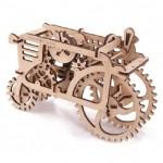 Dřevěná stavebnice 3D mechanického Puzzle - Traktor